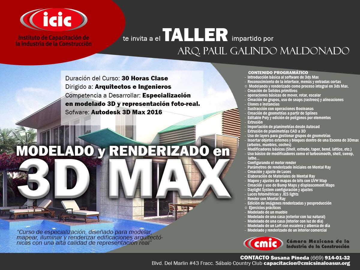 Taller 3D Max Modelado y Renderizado D