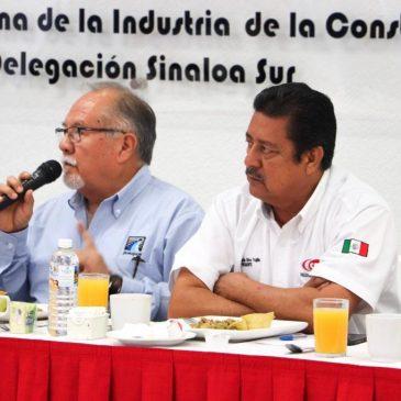 OBRA EMERGENTE DE JUMAPAM SERÁ PARA COSTRUCTORAS PRIVADAS, ACUERDA EL GERENTE GENERAL CON LA CMIC SINALOA SUR