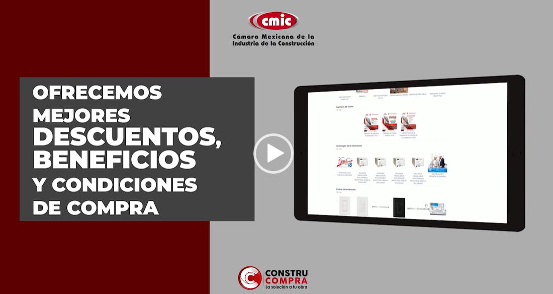 Beneficios de CONSTRUCOMPRA para afiliados CMIC